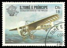 Erste bemannter Flug-Zweihundertjahrfeier, Bleriot-Eindecker Lizenzfreies Stockfoto