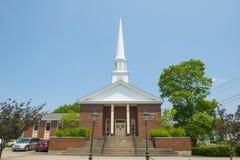 Erste Gemeinde-Kirche Stoughton, Massachusetts, USA stockbilder