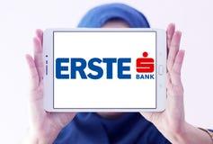 Erste-Gruppen-Banklogo Stockfoto