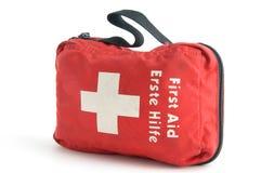 Erste-Hilfe-Ausrüstung. stockbild