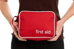 Erste-Hilfe-Ausrüstung lizenzfreies stockbild