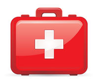 Erste-Hilfe-Ausrüstung getrennt Lizenzfreies Stockbild