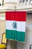 Erste italienische Flagge Stockbilder