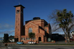 Erste Kirche Invercargill Neuseeland Stockfotografie