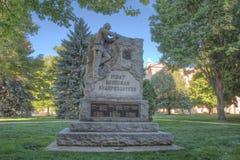 Erste Michigan-Scharfschütze-Statue lizenzfreies stockbild