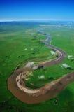 Erste neun von gelbem Fluss Lizenzfreies Stockbild