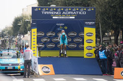 Erste Phase von Rennen Tirreno Adriatica Stockbilder
