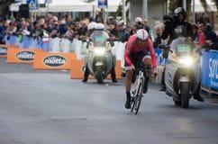 Erste Phase von Rennen Tirreno Adriatica Stockbild