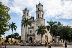 Erste Römisch-katholische Kirche in Yucatan stockbilder