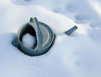 Erste Schnee- und Morgensonne Lizenzfreie Stockfotografie
