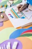 Erste Skizze, neuere Farbe Lizenzfreies Stockfoto