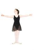 Erste Stellung des Balletts Lizenzfreies Stockfoto