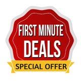 Erste winzige Angebote Aufkleber oder Aufkleber Lizenzfreies Stockfoto