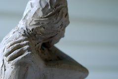 Erstellen der Skulptur stockbild