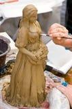 Erstellen der Skulptur stockfotos