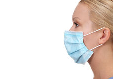 Erstellen Sie Bild der jungen weiblichen Krankenschwester ein Profil lizenzfreie stockbilder