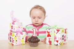 Erster Geburtstag. Lizenzfreie Stockfotografie