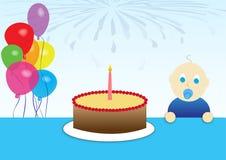 Erster Geburtstag Stockbild