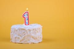 Erster Geburtstag-Kuchen Stockfotos