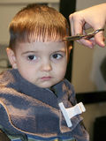 Erster Haar-Schnitt Stockfotos
