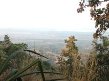 Erster Morgensonnenaufgang Stockfoto