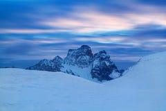 Erster Schnee E r Giau-Durchlauf lizenzfreie stockfotografie