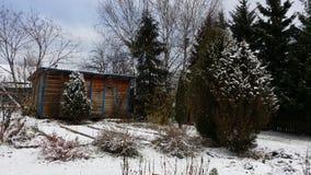 Erster Schnee fiel Stockbild
