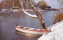 Erster Schnee und Eis. Lizenzfreies Stockfoto