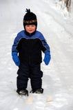 Erster Ski! Stockfotos