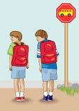 Erster Tag der Schule Stockbild