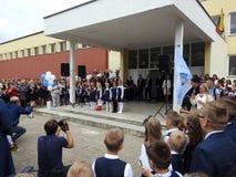 Erster Tag in der Schule, Litauen Lizenzfreies Stockbild