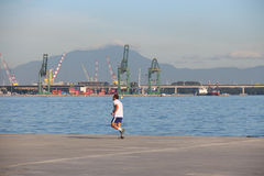 Erster Tag des Sommers in Brasilien Stockfotos