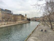 Erster Tag Fluss Saine Paris von Jahr 2016 Stockbild