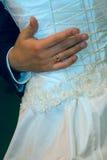 Erster Tanz eines neu-verheirateten Paares Lizenzfreie Stockbilder