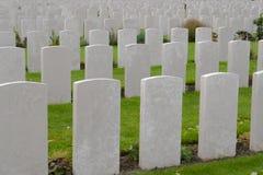 Erster Weltkrieg des Tyne-Feldbettkirchhofs Flandern Belgien Stockfotografie