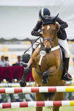 Erstes Cup Equestrian Show Jumping Stockfotografie