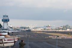 Erstes Dreamlifter-Transportflugzeug Lizenzfreie Stockfotografie