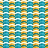 Erstes Dugdu-Wellen-Form-horizontales nahtloses Muster Lizenzfreie Stockfotografie