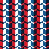 Erstes einfaches rotes blaues vertikales nahtloses Muster Libo Stockfotografie
