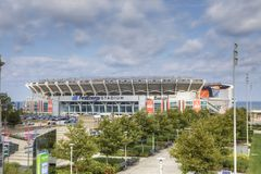 Erstes Energie-Stadion in Cleveland, Ohio stockbilder