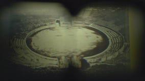 Erstes Experiment 3D des Projektors FDV stock footage