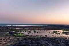 Erstes Licht von Jeju-Insel stockfotos