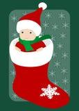 Erstes Weihnachten des Schätzchens Lizenzfreie Stockfotografie