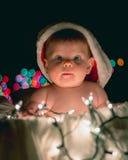Erstes Weihnachten des Schätzchens Stockfotos