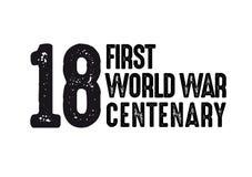 1918-2018 ERSTES WELTKRIEG-JAHRHUNDERT - TAG DES WAFFENSTILLSTANDS DES I. WELTKRIEGES vektor abbildung