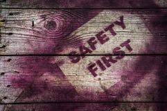 Erstes Zeichen der Sicherheit Stockbilder