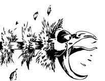 Erstickendes Huhn Lizenzfreies Stockbild