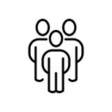 Erstklassige Benutzerikone oder -logo in der Linie Art Stockbilder
