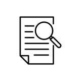 Erstklassige Dokumentenikone oder -logo in der Linie Art Stockfotografie