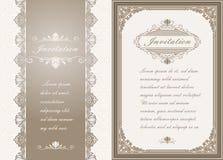 Erstklassige Einladungs- oder Hochzeitskarte Stockfoto